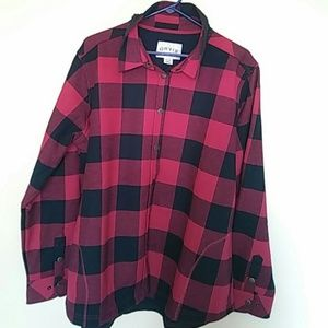 Orvis Mens Plaid Snap Up Flannel Shirt Jacket, XXL